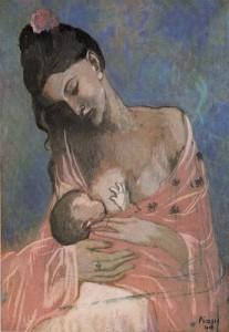 """Pablo Picasso titulada """"Maternidad"""" (1901)"""