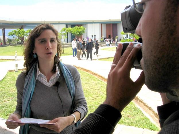 Foto entrevista para la tele marroqui 1